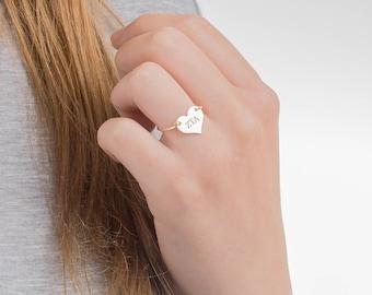 Zeta Tau Alpha Heart Ring, ZTA Wire Ring, Z T A Sorority Heart Ring, Zeta Tau Alpha Sorority Ring, Z T A Heart Wire Ring, ZTA Heart Ring