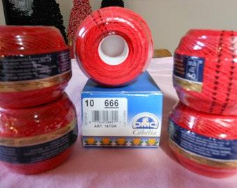 DMC Cebelia Red crochet thread
