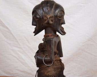 African art tribal statue,  Songye fetish statue from kongolo province congo