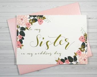 Sister wedding card Etsy