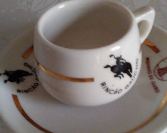 Demitasse Cup and Saucer Porcelain