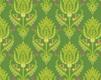 Primavera Damask Green - Patty Young - Riley Blake Designs 100% Quilters Cotton Available in Yards, Half Yards and Fat Quarters