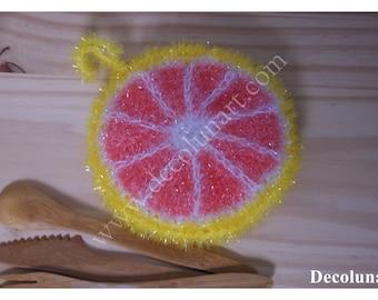 Zero waste with this sponge eco tawashi shaped pomelo