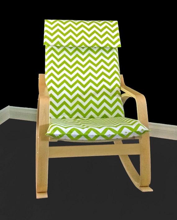 Charmant Custom Ikea Chair Covers Green Chevron IKEA POÄNG Seat Cover