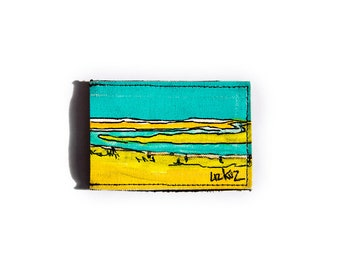 Hand Painted Recycled Wallet: Yellowstone No. 2