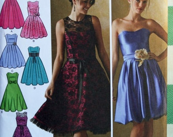 UNCUT, Simplicity 4070, Sewing Pattern, Misses, Dress With Bodice and Skirt Variations, Misses, Size 6-14, OLD2NEWMEMORIES