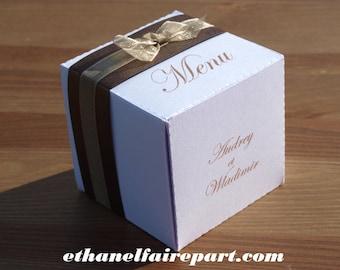 Amor - set of 6 wedding menu