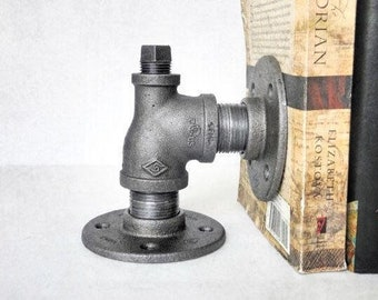 Steampunk Pipe Bookends