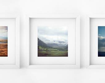 Set of 3 Photography Prints, Nature Prints, Nature Art, Triptych Wall Art, House Decor, Analog Photography, Pentacon SIX, Landscape Art