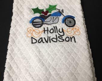 Holly Davidson Christmas Towel