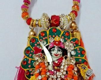 hindu goddess durga/kali tassel pendant/necklace