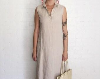 Oatmeal linen market dress