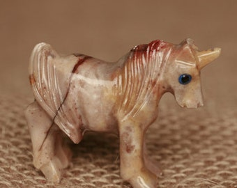 Carved Soapstone Unicorn - Small
