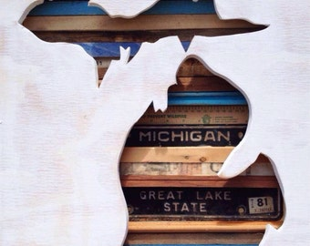 "Reclaimed Wood Art - Say, ""Yes"" to Michigan"