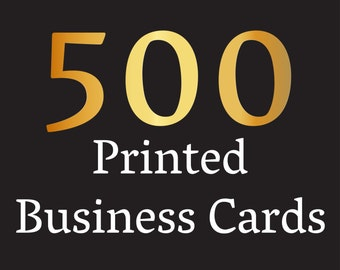 Cool business cards etsy printed business cards 500 business card printing printing service custom printing colourmoves