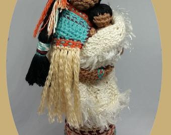 Elegance KEARA Crochet Pattern. Gentle Embrace MOD pattern. Native American Amigurumi Doll. Cubby House Crochet by Veronica McRae