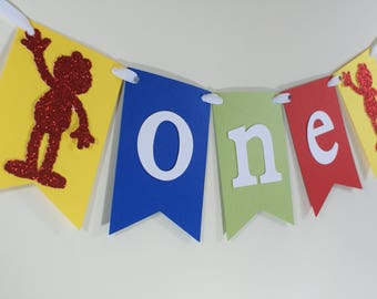 SHIPS FAST - Elmo Birthday Banner, Elmo High Chair Banner, Elmo Party Banner - Handcrafted and shipped in 1-3 Business Days