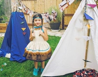 Disney Princess Pocahontas inspired dress….Birthday…School Play…Halloween…Disney trip dress!!!!