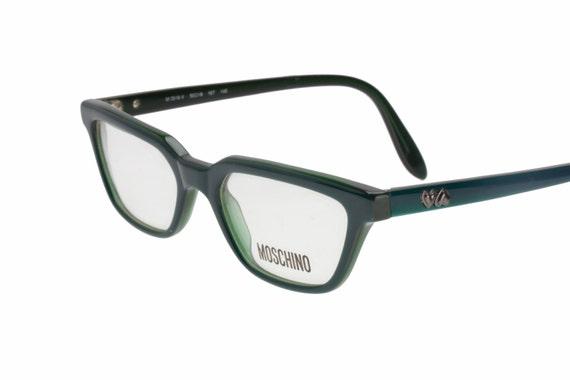Moschino retro dark green ladies cat eye eyeglasses frames