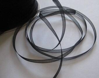 10 m 3mm black organza Ribbon