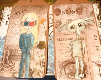 Luna Lovegood and Dobby Tags