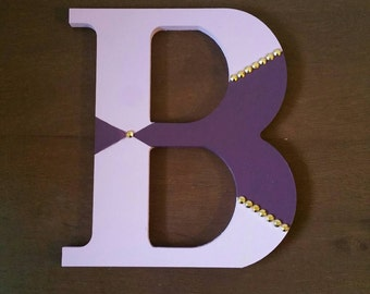Hand Painted Custom Designed 8 inch Letters