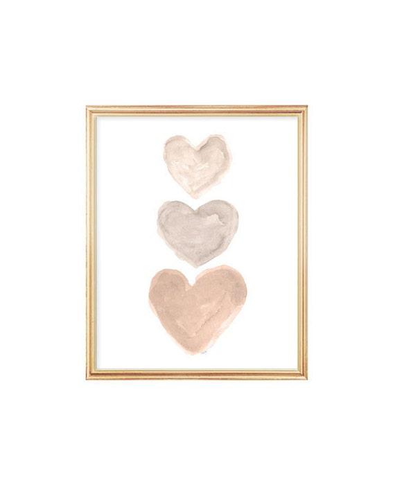 Gender Neutral Baby Print, 5x7, 8x10 Hearts