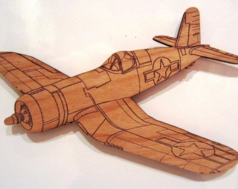 F4U Corsair Wooden Fridge Magnet