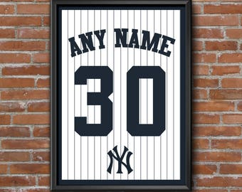 New York Yankees Custom Jersey Back | Any Name & Number | DIGITAL FILE ONLY