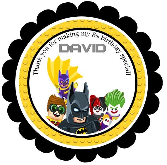Printable Lego Batman Favor Tags Lego Batman Thank you Tags