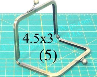 18% OFF 5 antique brass 4.5x3 metal purse frame