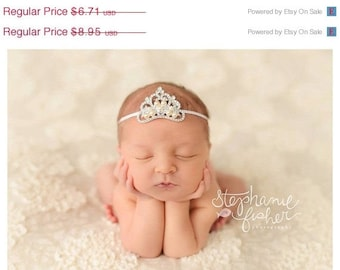 Tiara Headband Crown Headband Newborn Baby Headband Infant Headband Toddler Headband Photo Props Photography Prop Small Crown Tiara Headband