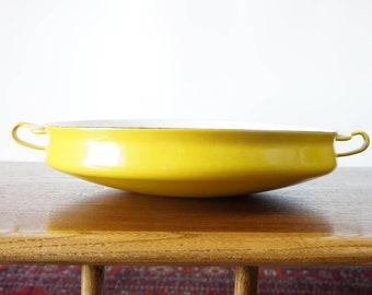 Vintage Dansk Kobenstyle yellow large paella pan Made in France Jens Quistgaard
