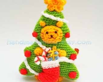 Kitty Cat Christmas Tree Costume PDF Crochet Pattern