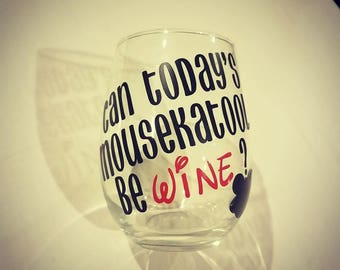 Mousekatool Wine Glass