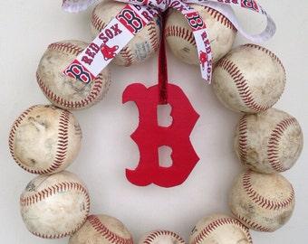 Boston Red Sox Baseball Wreath