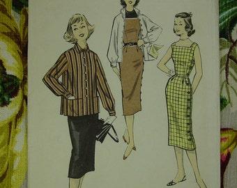 Vintage Pattern 1950's Advance No.7835 Teen Jumper,Blouse Sz.10