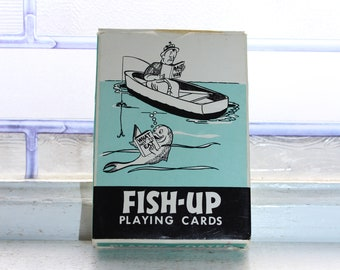 Vintage Fish Up Playing Cards Humorous