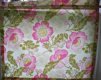 Muslin Lined Curtain using Amy Butler Midwest Modern Fresh Poppies Fuchsia