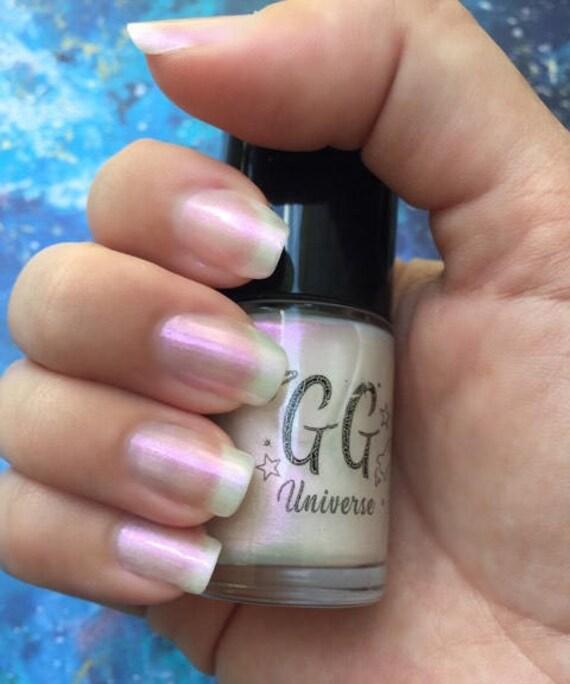 Unicorny White Iridescent Nail Polish With Pink Shimmer