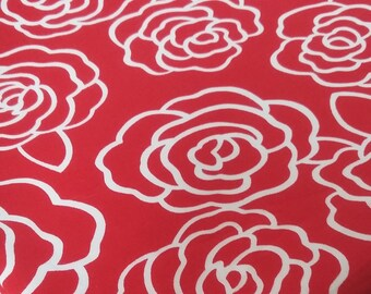 Red Rose Cotton Fabric
