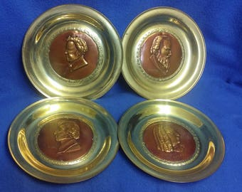 Brass and Copper Commemorative Classical Music Composer Plaques