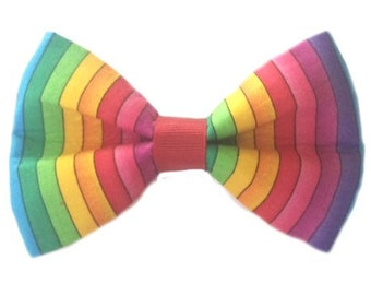 PAWS for PRIDE - Gay Pride Dog Bow, Wedding Dog Bow Tie, Pet Photography
