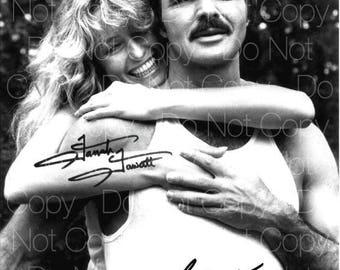 Burt Reynolds Farrah Fawcett signed 8X10 photo picture poster autograph RP