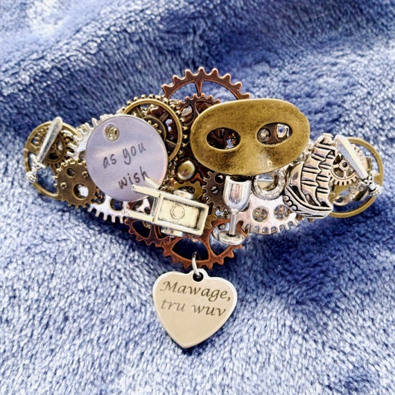 Steampunk Princess Bride Barrette
