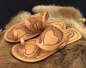 """Sheridan Style Spur Strap sandals """"Flowing Hearts"""""""