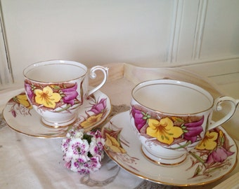 Vintage Queen Anne China Teacup and Saucer. C1940.
