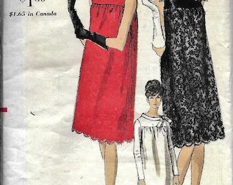Vogue 6648 Vintage 1960s MATERNITY Smock Dress Sewing Pattern Size 12 Bust 32