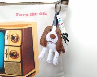 Personalised Hand sewn Springer Spaniel felt ornament / Spaniel dog felt charm / Spaniel dog felt plush / Dog  ornament