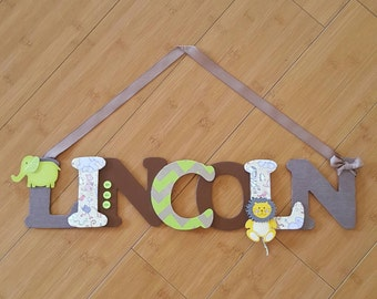 Nursery letters, Custom baby name, Personalized baby letters